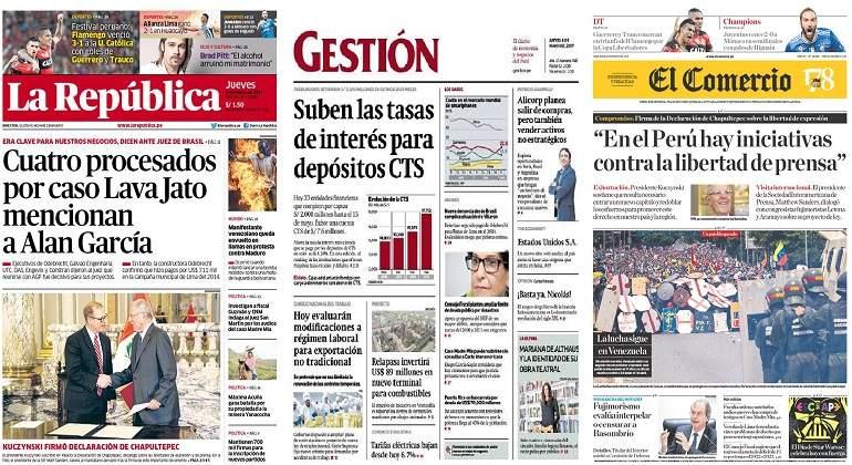 Alan García rechaza haber recibido sobornos de empresa Odebrecht