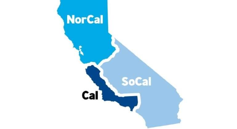 Así quedaría California si se divide en tres estados, una propuesta que se votará en noviembre