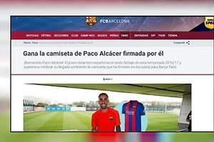 Pifia culé con Paco Alcácer