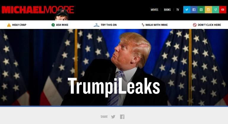 Michael Moore lanza sitio web 'TrumpiLeaks' para denunciar al presidente