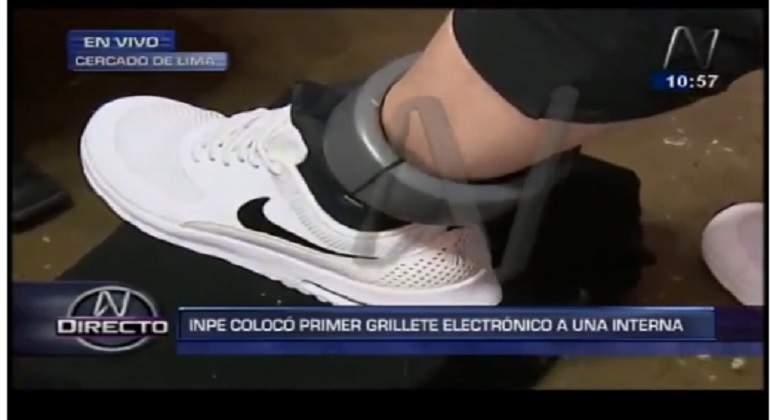 Poder Judicial aprueba uso de primer grillete electrónico a condenada por estafa