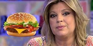 Terelu Campos,reina de las hamburguesas