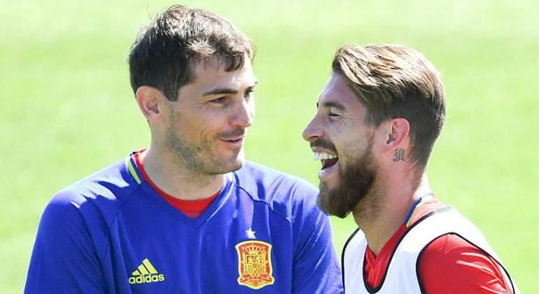 Ramos no ocultó su sorpresa por la ausencia de Casillas