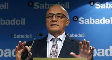 Oliu y Guardiola, sin stock options del Sabadell por el bache bursátil