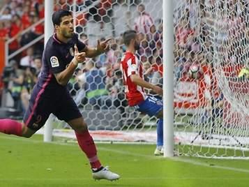 El Barça golea con facilidad al Sporting y mete presión al Real Madrid por el liderato