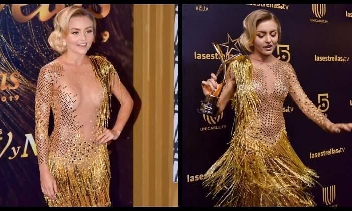 Critican A Angelique Boyer Por Portar Vestido Al Revés En
