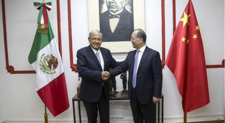 AMLO explora aumentar el intercambio comercial con China