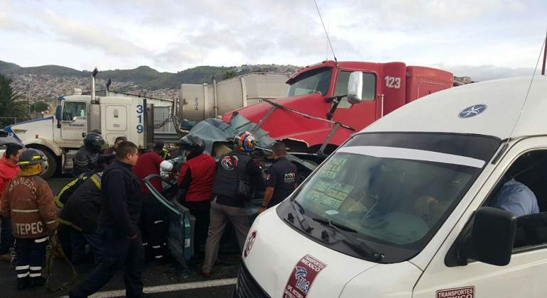 Fatal accidente en la México-Pachuca