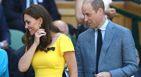Kate Middleton, de amarillo en Wimbledon