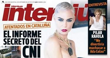 Lepage, desnuda en la portada de Interviú