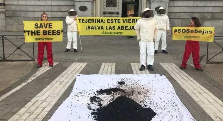 20 kilos de abejas muertas para la ministra Tejerina