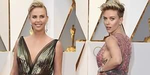 Charlize y Scarlett, las peor vestidas de los Oscar