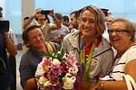 Nuestros olímpicos, agasajados en Barajas