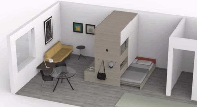 ARQUITECTURA ROBOTICA: ¿Es posible aumentar los metros cuadrados de un apartamento?