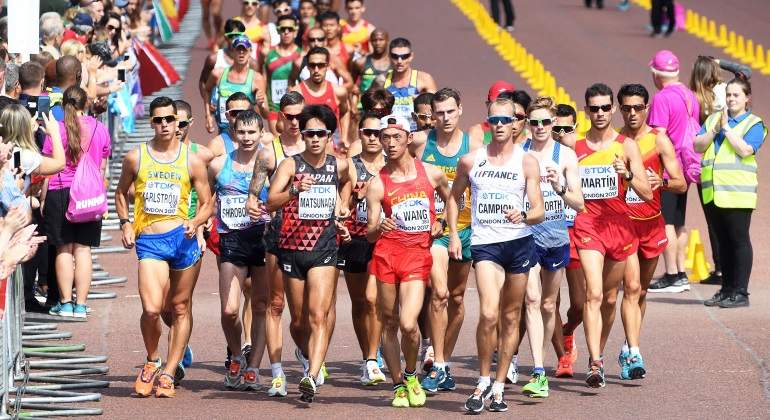 Tropiezo de España en los 20 kilómetros marcha del Mundial de Londres: de defender el título a quedar fuera del top-7