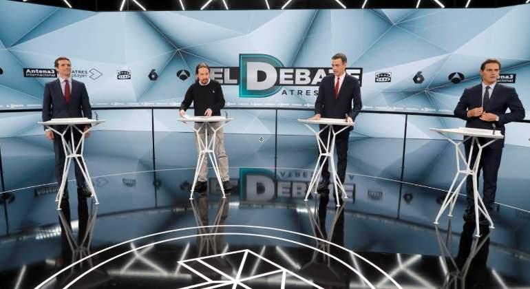 71a24ef08 Sánchez, Casado, Rivera e Iglesias protagonizan un segundo debate trabado y  …