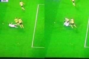 La agresión de Cristiano en Dortmund