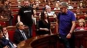 Bronca sesión en el Parlament con Torra pidiendo a gritos la libertad de los miembros de los CDR detenidos y Carrizosa expulsado