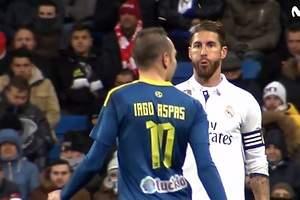 Ramos también escupió a Aspas