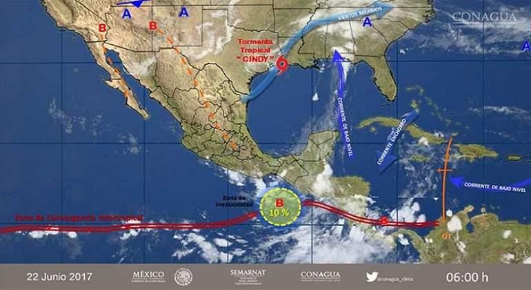 Prevén tormentas intensas en Oaxaca y Chiapas
