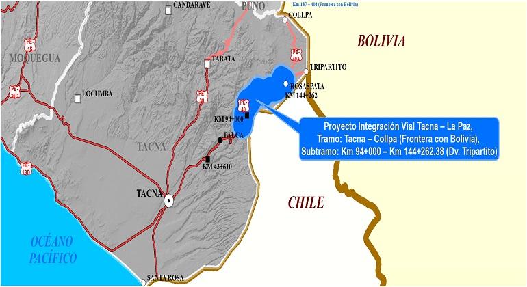 a8fa65158 Proyecto de integración vial del tramo 2, Tacna ? La Laz, tramo: Tacna ?  Tacna ?