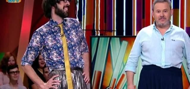 Ana Morgade enloquece al ver a Miki Nadal en falda