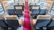 Interior de un tren de alta velocidad low cost AVLO de Renfe