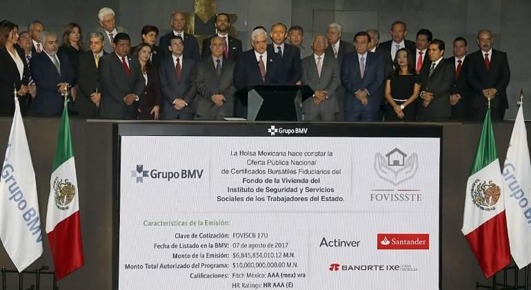 FOVISSSTE coloca en Bolsa un récord de 6845 millones de pesos