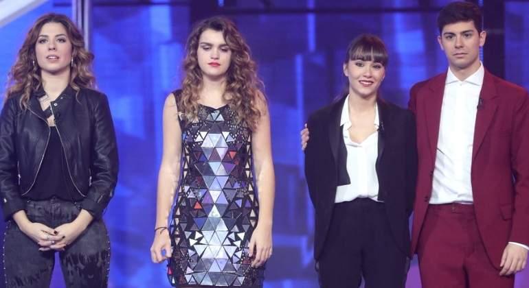 Miriam, Alfred y Aitana contra Amaia de España en la final