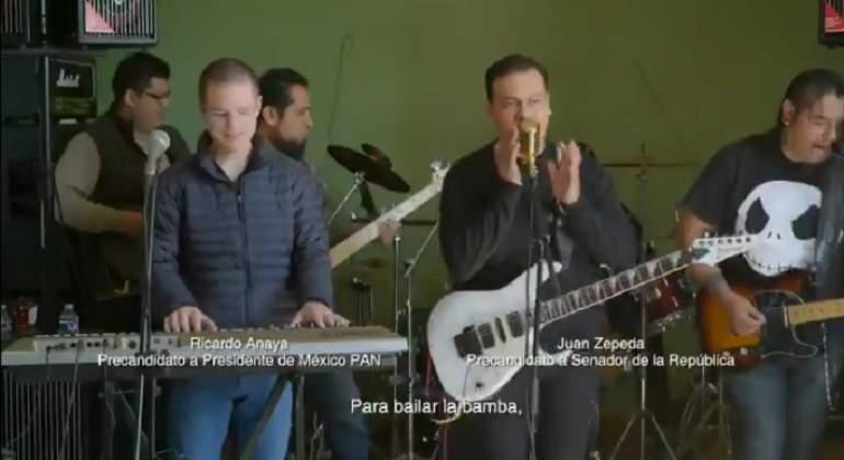 Anaya y Zepeda lanzan nueva canción al ritmo de 'La Bamba'