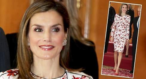 Letizia repite vestido de 5000 euros en Oviedo