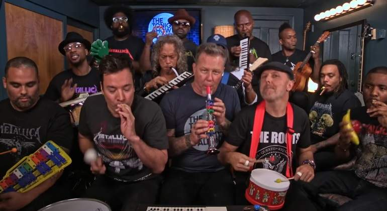 Metallica y Jimmy Fallon versionan