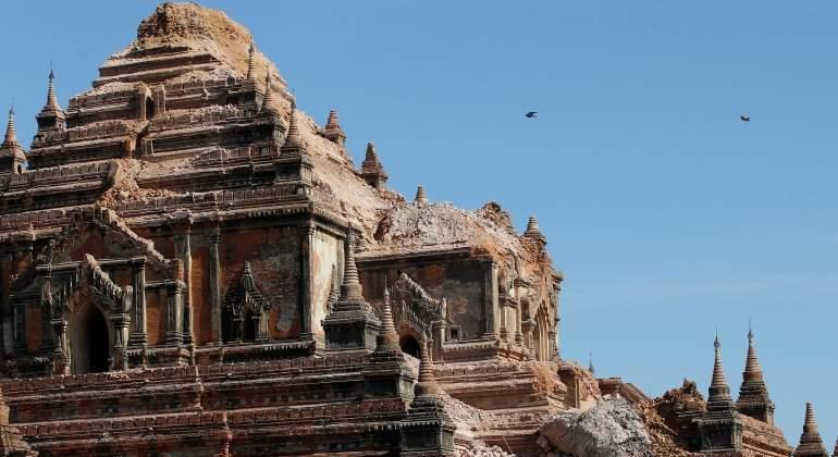 Cuatro muertos y 230 pagodas dañadas en Bagan por el seísmo de 6,8 en Birmania