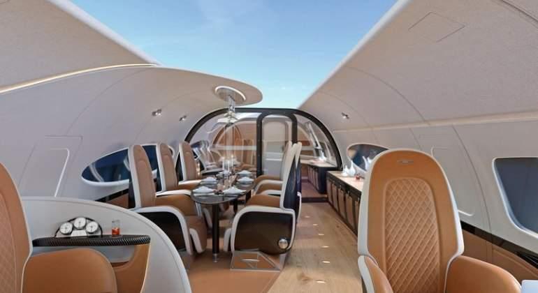 El jet privado con pantalla en el techo: lo nuevo de Airbus