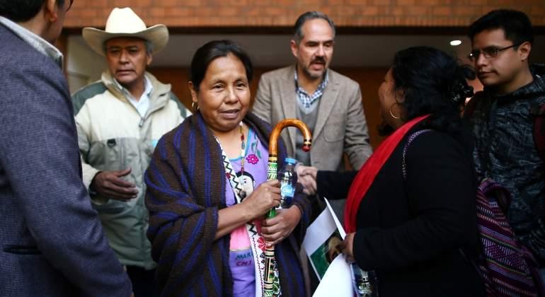 México: aspirante presidencial indígena queda lesionada tras accidente