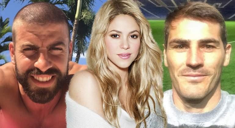 Gerard Piqué cambia de look y se 'pica' con Iker Casillas