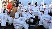 Inmigrantes en un barco