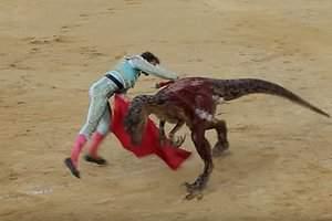 La lidia de un velociraptor