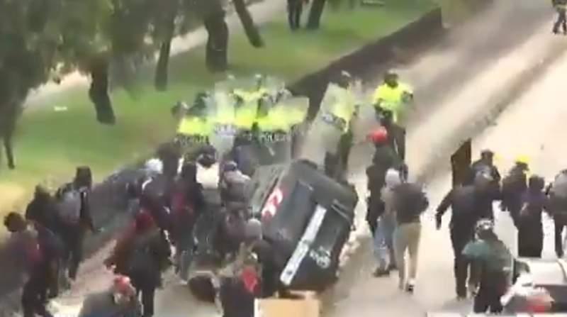 Se reactivan protestas en Colombia con actos vandálicos y afetaciones a la economía del país