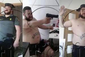 Con pistola y de Guardia Civil, La Manada antes de los Sanfermines