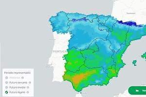El mapa de la temperatura que habrá en tu ciudad en el futuro