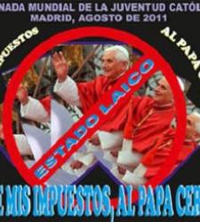 Manifestación contra la visita del Papa