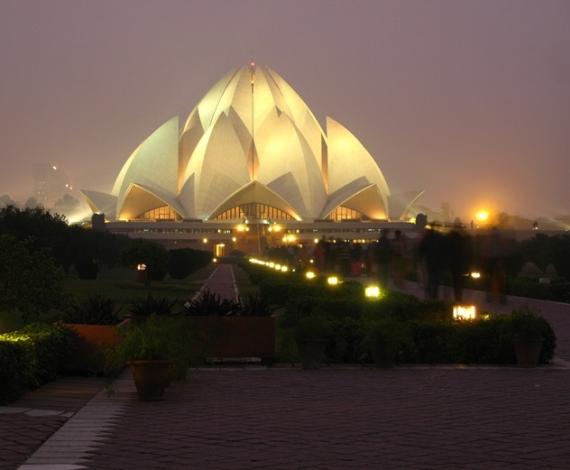 Templo de Loto en Delhi, India