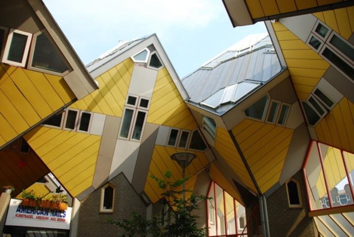 Casas cúbicas en Roterdam, Holanda.